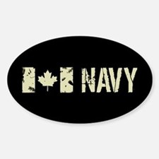 Canadian Flag: Navy Sticker (Oval)