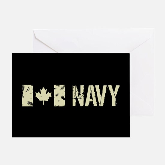 Canadian Flag: Navy Greeting Card