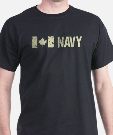 Canadian Flag: Navy T-Shirt