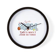 I'M A SPORTS MOM - BASEBALL, FOOTBALL,  Wall Clock