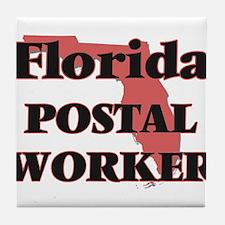 Florida Postal Worker Tile Coaster