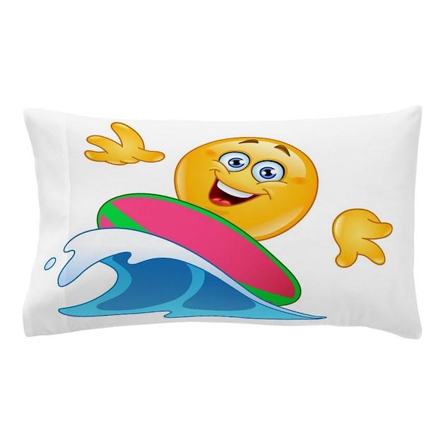 Surfing Emoji Pillow Case By Admin Cp13506533