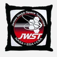 JSWT NASA Program Logo Throw Pillow