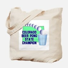 Colorado Beer Pong State Cham Tote Bag