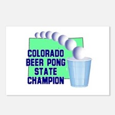 Colorado Beer Pong State Cham Postcards (Package o