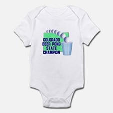 Colorado Beer Pong State Cham Infant Bodysuit