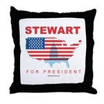 Stewart for President Throw Pillow