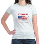 Stewart for President Jr. Ringer T-Shirt