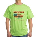 Stewart for President Green T-Shirt