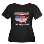 Stewart for President Women's Plus Size Scoop Neck