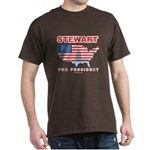 Stewart for President Dark T-Shirt
