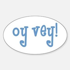 Unique Jewish humor Sticker (Oval)