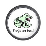 Cute Frogs are Best Love Frog Wall Clock