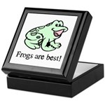 Cute Frogs are Best Love Frog Keepsake Box