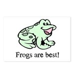 Cute Frogs are Best Love Frog Postcards (Package o