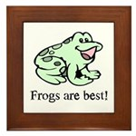 Cute Frogs are Best Love Frog Framed Tile