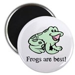"Cute Frogs are Best Love Frog 2.25"" Magnet (100 pa"
