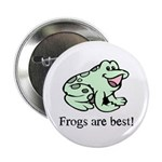 "Cute Frogs are Best Love Frog 2.25"" Button (10 pac"