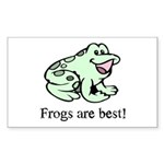 Cute Frogs are Best Love Frog Sticker (Rectangular