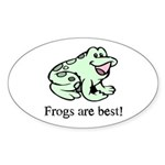 Cute Frogs are Best Love Frog Oval Sticker