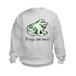 Cute Frogs are Best Love Frog Kids Sweatshirt