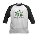Cute Frogs are Best Love Frog Kids Baseball Jersey