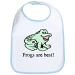 Cute Frogs are Best Love Frog Bib