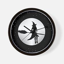 creepy witch Wall Clock