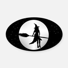 creepy witch Oval Car Magnet