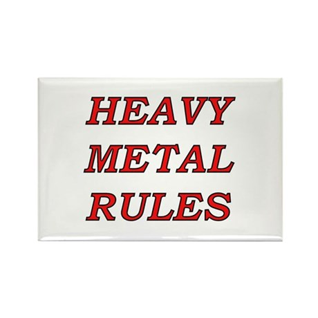 Heavy Metal Rules Rectangle Magnet