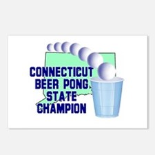 Connecticut Beer Pong State C Postcards (Package o