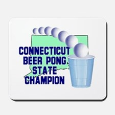 Connecticut Beer Pong State C Mousepad