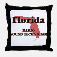 Florida Radio Sound Technician Throw Pillow