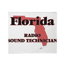 Florida Radio Sound Technician Throw Blanket