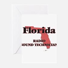Florida Radio Sound Technician Greeting Cards