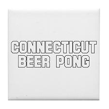 Connecticut Beer Pong Tile Coaster