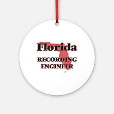 Florida Recording Engineer Round Ornament