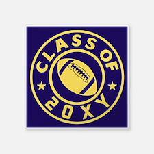 "Class of 20?? Football Square Sticker 3"" x 3"""