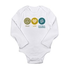 Unique Love nerd Long Sleeve Infant Bodysuit