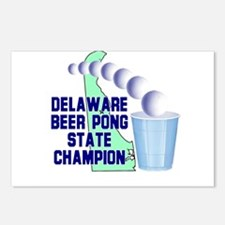 Delaware Beer Pong State Cham Postcards (Package o