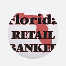 Florida Retail Banker Round Ornament
