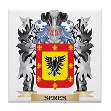 Seres Coat of Arms - Family Crest Tile Coaster