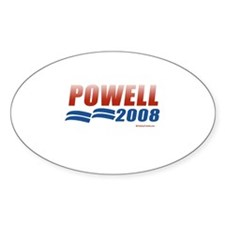 2008 Election Candidates Oval Decal