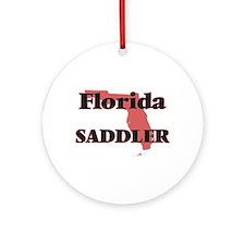 Florida Saddler Round Ornament