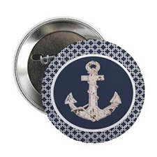"navy blue geometric pattern 2.25"" Button (10 pack)"
