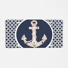 navy blue geometric pattern Aluminum License Plate
