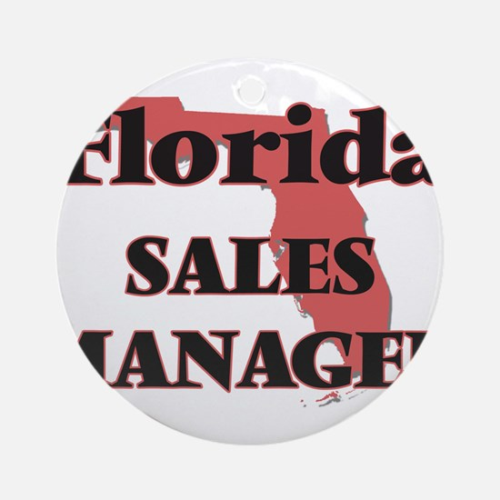 Florida Sales Manager Round Ornament