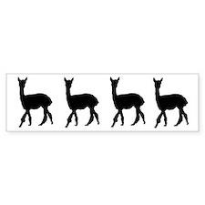 Strolling Alpaca Bumper Bumper Sticker