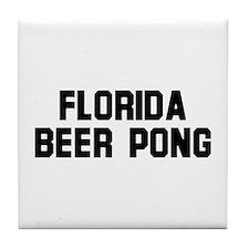 Florida Beer Pong Tile Coaster