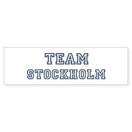 Team Stockholm Bumper Sticker